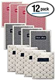 Better Office Products 48 Photo Mini Photo Album, 4 x 6 Inch, Pack of 12, Clear View Cover with Removable Decorative Inserts, Holds 48 Photos, 12 Pack