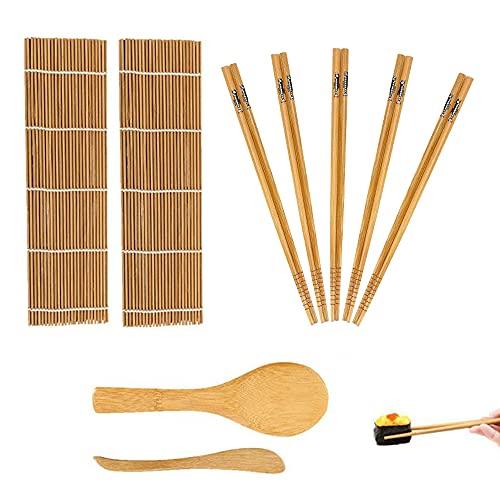 Kit de fabrication de sushis en bambou 9 pièces, tapis...