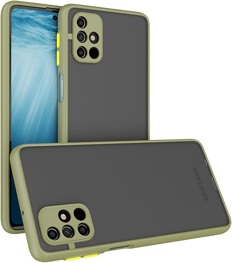 Case for Samsung Galaxy M31S Case [Protect from Fingerprint/Shock/Scratch/Slip] Shockproof Hard PC Back with Soft TPU Bumper Slim Protective Phone Cover for Samsung Galaxy M31S (Green)