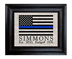 Image: Police Officer Gifts | Personalized Gift for Policewoman | Gift for Policeman | Retired Police Officer Gift | State Police Gift