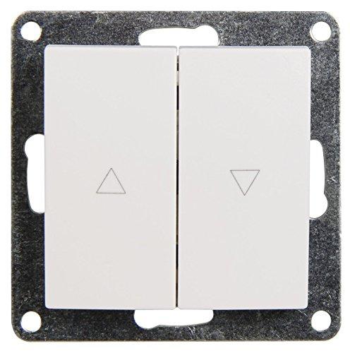 MC POWER - Jalousie-Taster   FLAIR   hoch und runter, 250V~/10A, UP, weiß, matt