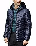 NITAGUT Men's Packable Insulated Warm Hooded Puffer Down Jacket Winter Coat Blue,X-Large
