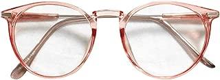 BOZEVON Women Glasses - Oversize Transparent Round Metal Frame Classic Vintage Clear Lenses Non Prescription Glasses Men Women Fashion Eyewear