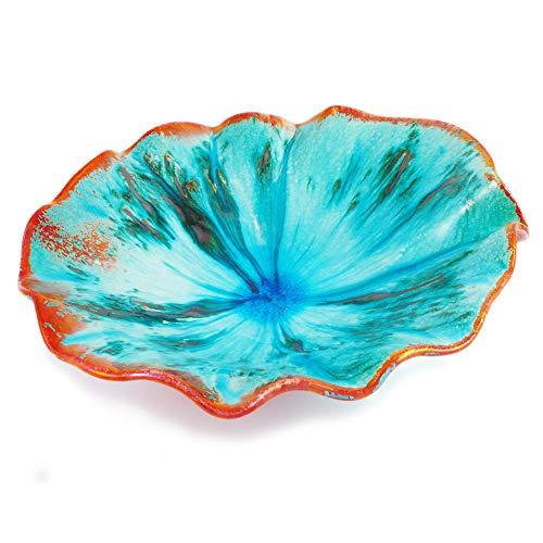 Céramiques Alliage Bol Artisanale en céramique Faenza Turquoise 32 Diam
