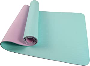 SportVida Yogamat van TPE, 100% slipvast en vrij van schadelijke stoffen, gymnastiekmat voor yoga, pilates, fitness, 180 x...