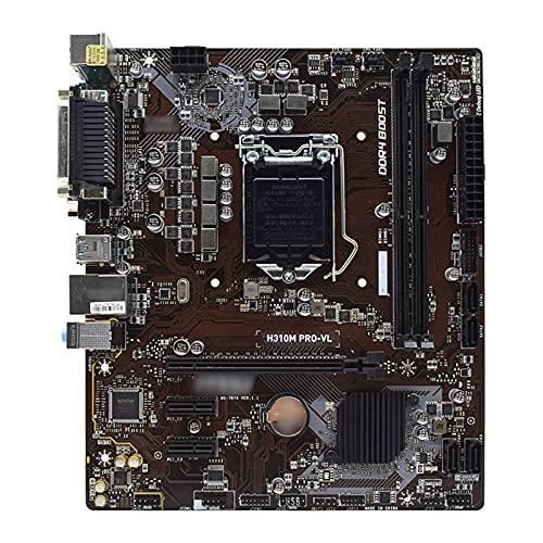 MYHJ Fit for MSI H310M Pro-VL Intel H310 Lag 1151 Placa Base de PC DDR4 32GB Core I7-8700 I5-8500 I3-8100 CPUs PCI-E 3.0 2 × Placas Base de computadora USB3.1 Gen1