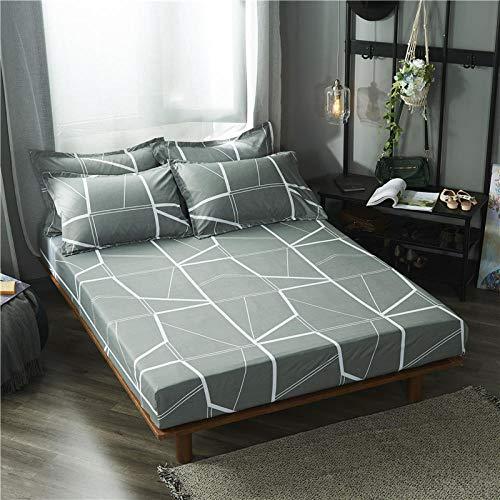 Unknow Collection katoenen bed, beddengoed met topper box, hoeslaken met binnenvering, 100% katoen