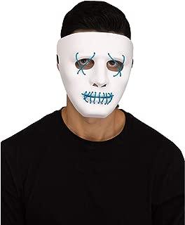 Fun World Scary Glowing Illumo Battery Powered Mask, One-Size, White Blue