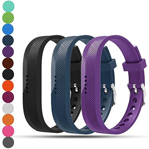 Fitbit Flex 2 Ersatz Armbänder - iFeeker Soft Silikon Metallverschluss Schnalle Design Trageschlaufe Armband Sport Uhrenarmbänder Halter Tasche für Fitbit Flex2 Fitness Activity Tracker