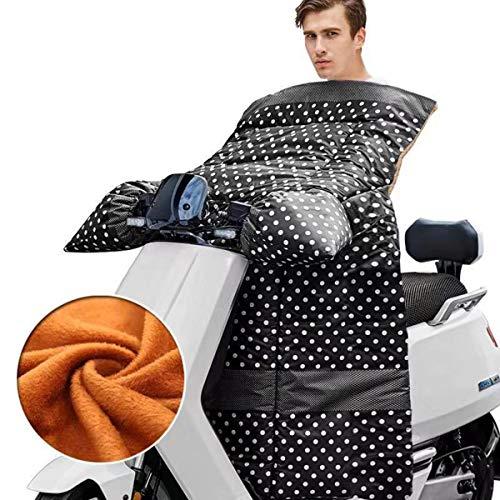 Elektrische auto voorruit, Winter Motorfiets Scooter Koud pak Winddichte Quilt, Een stuk Bedrukte Leggings Schort Plus velvet J