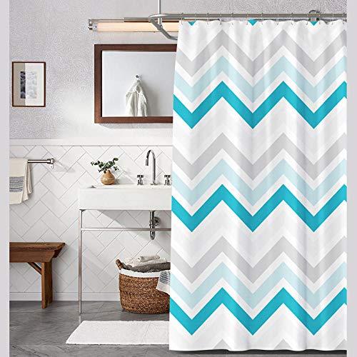Vlejoy Modern Home Printing Gestreifter Duschvorhang Badezimmer Wasserdichter Sonnenschutzvorhang Zum Senden Hook-150 * 200cm