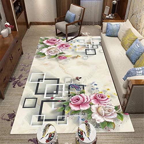 alfombras Baratas,Púrpura Rojo, Alfombra Blanca antiestática Anti-ácaro antiestático Alfombra Transpirable ,Alfombra recibidor Interior -Blanquecino_120x140cm
