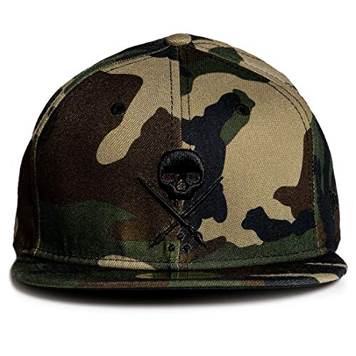 Sullen Men's Badge Stretched Fitted Hat Camo Brown 734