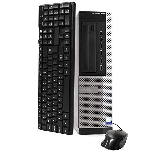 Dell Optiplex 990 Desktop Computer (Intel Quad-Core i7-2600 up to 3.4GHz, 16GB RAM, 2TB HDD, DVD, WiFi, VGA, DisplayPort, Windows 10 Professional) (i7 16GB 2TB) (Renewed)