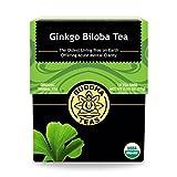 Organic Ginkgo Biloba Tea   18 Bleach Free Tea Bags   Antioxidant   Supports Mental Clarity   Made in the USA   Caffeine Free   No GMOs