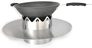 Skyflame Gourmet BBQ System Wok 'n Complete Pack for 22 inches kettle Grill, Stainless Steel