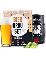 braufaesschenBierbrouwset om zelf te brouwen, helder vat van 5 liter, heerlijk bier, in 7 dagen gebruikt, perfect cadeau voor mannen