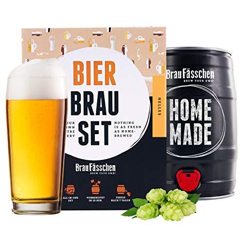 braufaesschen® | Bierbrauset zum selber Brauen | Helles im 5L Fass | Leckeres Bier In 7 Tagen gebraut | Perfektes Männergeschenk