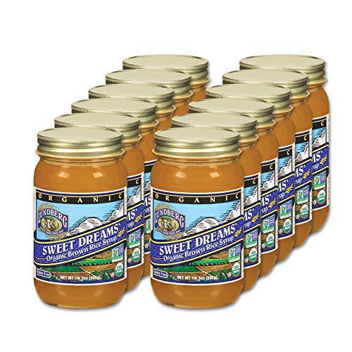 Lundberg Family Farms - Organic Sweet Dreams Brown Rice Syrup, Substitute Sweetener, Replaces Sugar, Honey, Corn Syrup, Non-GMO, Gluten-Free, USDA Certified Organic, Vegan, Kosher (21 oz, 12-Pack)