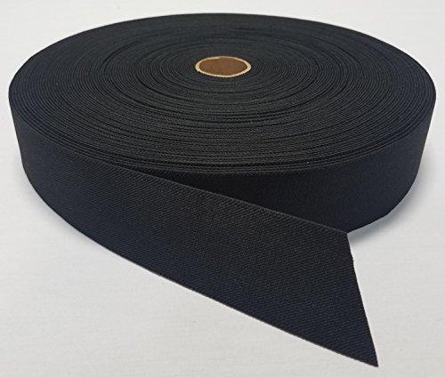 1 YARD - MIL SPEC 2' ELASTIC WEBBING / MOLLE WEBBING - BLACK