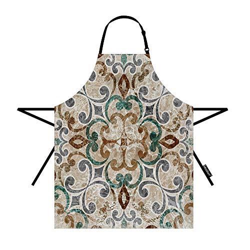 Moslion Paisley Schürze mit verstellbarem Hals für Damen und Herren