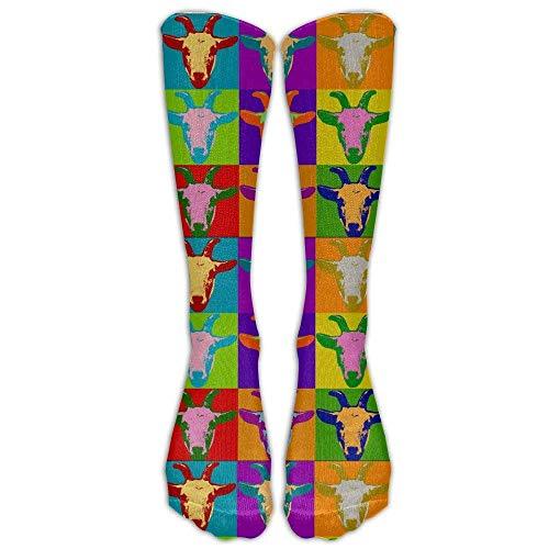 Hunter qiang Los elegantes calcetines largos de la cabeza de cabra para hombres y mujeres atléticos calcetines largos: 50 cm.