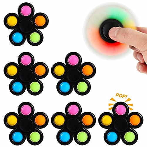 Effacera PopFidgetSpinner Toys6Pack,Pop BubbleSpinners Set,PartyFavorsSensoryToy...