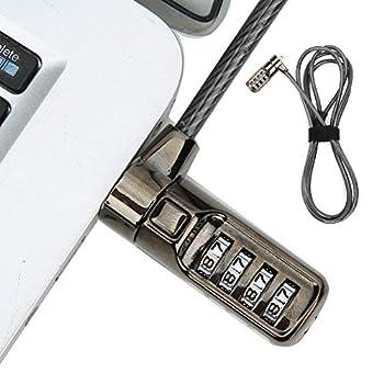CUEA Verrou sans clé, Verrouillage de sécurité codé pour Ordinateur Portable, Ordinateurs de Bureau à Verrouillage à Combinaison numérique antivol faciles à Utiliser pour Ordinateur Portable