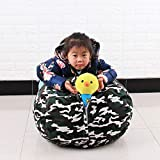 Evenlyao Kinder Spielzeugsack, Kinder-Spielzeug-Bean Bag Zur Aufbewahrung Von Plüschtieren, Stofftier Aufbewahrung Aufbewahrungstasche Sitzsack Kinder Soft Pouch Stoff Stuhl