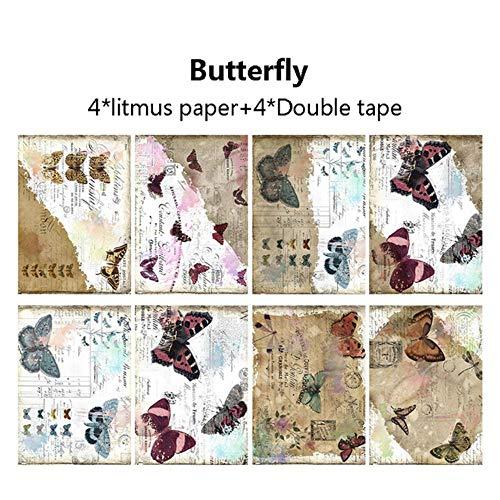 5.5 '' * 7.9 '' bloem vlinder brief patroon papier Pad lakmoes boter scrapbooking papier Pack handgemaakte achtergrond Craft Supplies, plakboek