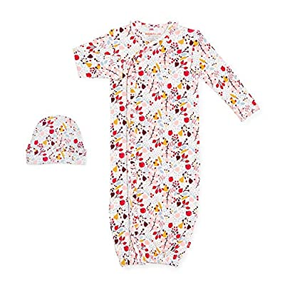 Magnetic Me by Magnificent Baby 100% Organic Cotton Gown & Hat Set - Newborn to 3 Months - Pom Pom