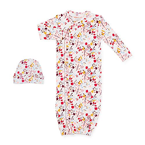 Magnetic Me Baby Gown & Hat Sleep Outfit Boys Organic Cotton Layette Sack Set with Magnet Fasteners Newborn - 3 Months Pom Pom