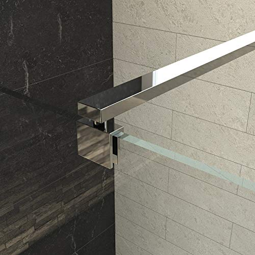 Haltestange für Duschwände Stabilisator Stabilisator Edelstahl Verstellung 700-1200mm für Glasstärke 8-10mm