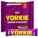 Original Yorkie Raisin & Biscuit Chocolate Bar Pack Imported From The UK England Yorkie Raisin & Biscuit 3 x 44g Pack - 4.6oz British Chocolate