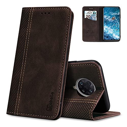 AKABEILA Hülle für Xiaomi Redmi K30 Ultra Handyhülle Leder Flip Hülle Ständer PU Brieftasche Schutzhülle Klapphülle Tasche Hülle mit [Kartenfach] [Standfunktion] [Magnetisch]