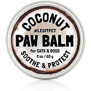 LEGITPET Dog Paw Balm Wax Soother & Moisturizer Cream with Natural Food-Grade Coconut Oil Organic Shea Butter & Beeswax - 2 oz - Healing Protector for Cracked Dog Paws Snout & Elbows
