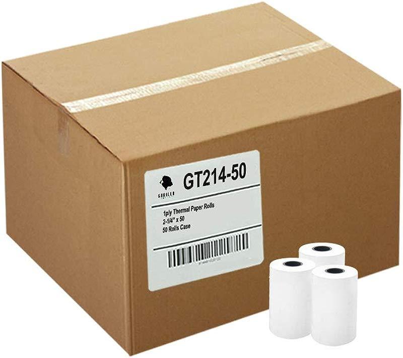 Gorilla Supply 50 Thermal Paper Rolls 2 1 4 X 50 Verifone Vx520 Ingenico ICT220 ICT250 FD400 50 CS