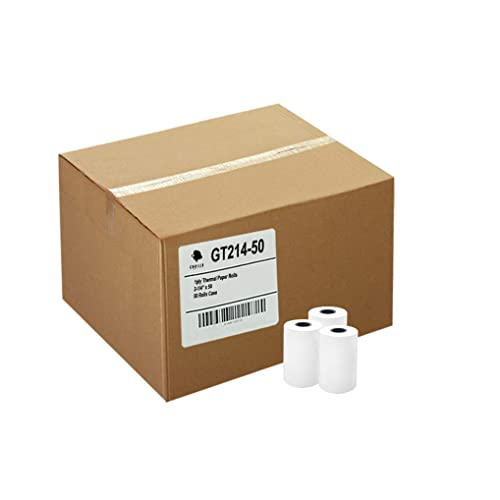 Gorilla Supply 50 Thermal Paper Rolls 2-1/4 X 50 Verifone Vx520 Ingenico ICT220 ICT250 FD400 50/CS