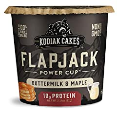 You will receive a Pack of (12) Kodiak Cakes Power Flapjack On the Go Baking Mix, Unleashed Buttermilk and Maple, 2.15 Ounce Non-GMO, and no preservatives with 10g protein and 3g fiber per serving Made with 100% whole grains Just add ¼ cup water or m...