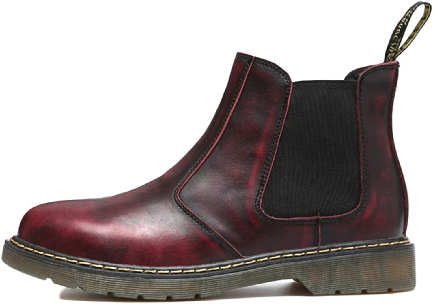 Men's Boots Chelsea Boots Leather Oxblood Safety Brogue Classic Martin Boots Vintage Boots