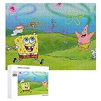 SpongeBob SquarePants ジグソーパズル 1000ピース 絵画 学生 子供 大人 向け 木製パズル TOYS AND GAMES おもちゃ(6歳以上が適しています)
