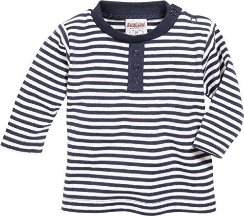 Schnizler Langarmshirt Marine geringelt, Oeko-Tex Standard 100, Sweat-Shirt Mixte bébé, Bleu (Marine/weiß), 68