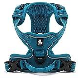Kismaple Adjustable 3M Refletive Dog Harness, Soft Padded No Pull Outdoor Training /