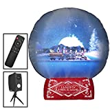 Gemmy Snow Globe Projection Screen with 5 Christmas Holiday Scenes and 4 Holiday Transistions with Remote Control and Sound - New for 2019