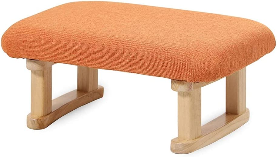 free ROEWP Multifunctional Footstool Import Solid Footrest Wood Home Office