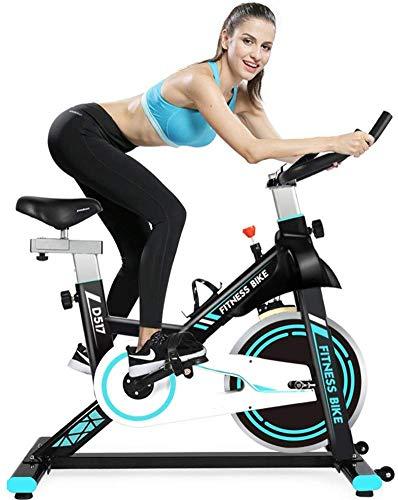WEI-LUONG Plegable Bicicleta estacionaria de transmisión del cinturón Cubierta Ciclo de la Bici del Volante y Sensor/Monitor LCD/FOR iPad Monte la Bicicleta estática W/Manillar Ajustable for el