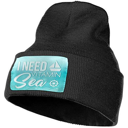 AEMAPE I Need Vitamin Sea - Gorro de punto para invierno con diseño de calavera