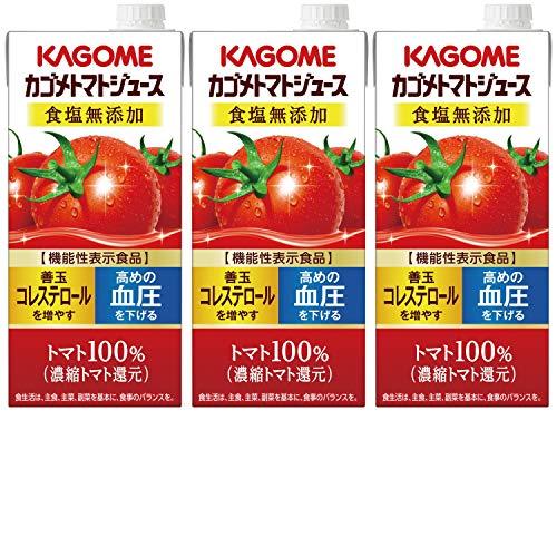 カゴメ カゴメトマトジュース 食塩無添加 1L×3本 [6120]