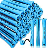 RK-HYTQWR 60Pieses Varillas de Permanente para el Cabello Rodillos de rizadores de Varilla de Onda fría para el salón Herramientas de Peinado del hogar, Plancha de Pelo pequeña, Azul