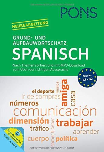 PONS Grund- und Aufbauwortschatz Spanisch. Buch + MP3-Download: Thematisch sortierter Wortschatz mit MP3-Download zum Üben der richtigen Aussprache